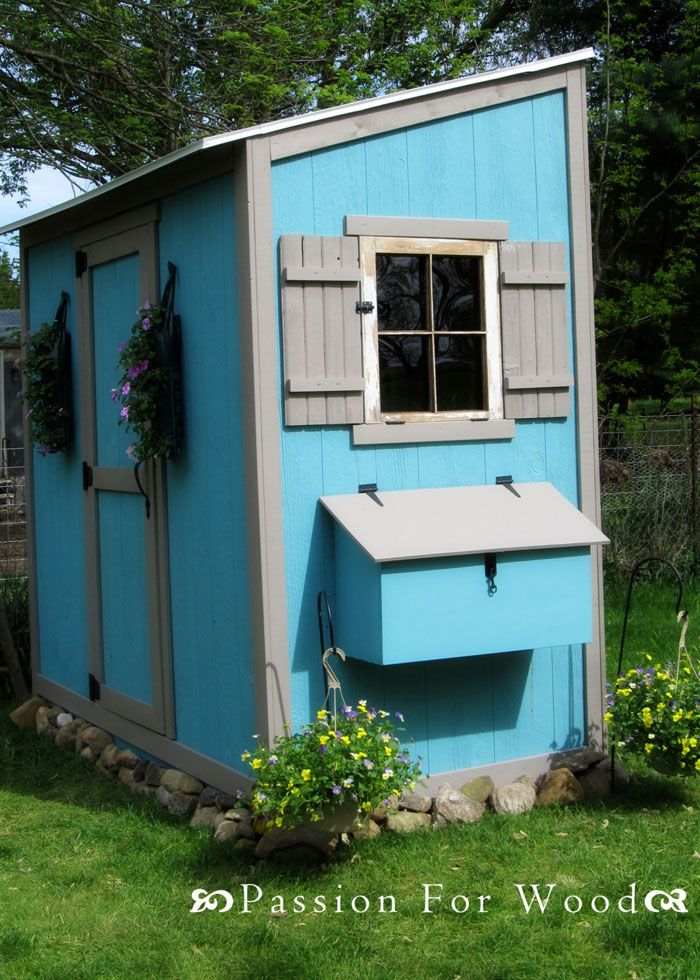 121 best wood shed plans images on pinterest garden for Chicken run for 6 chickens
