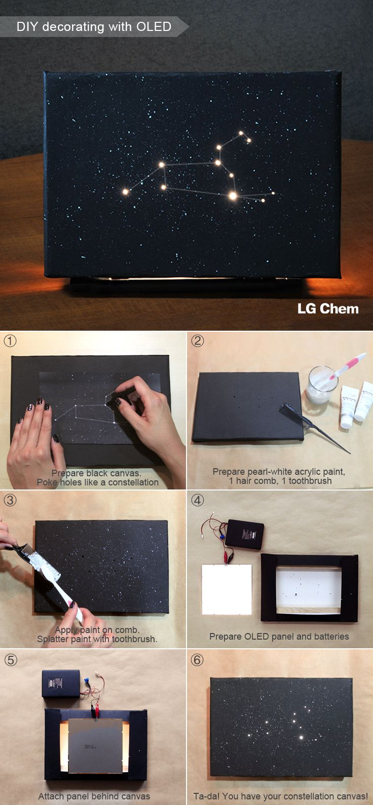 How to make your own zodiac sign using LG Display OLED light panel (Image: Leo). Check out Organic Lights at http://www.organic-lights.com/en/lg-display-do-it-yourself-kit.html