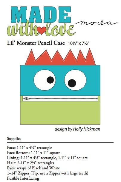Cute pencil case - monster pencil case #diy #back to school #school supplies