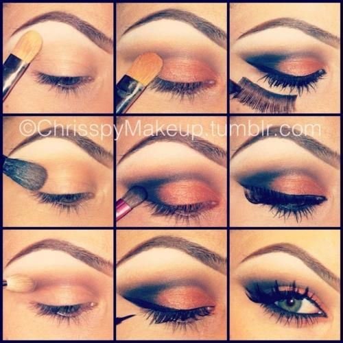 PRETTY EYESHADOW: Makeup Tutorial, Make Up, Eye Makeup, Eyeshadow, Beauty, Eyemakeup, Smokey Eye, Hair