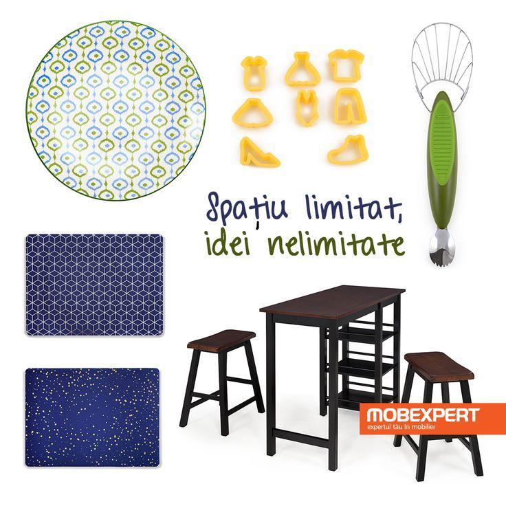 Culoare și funcționalitate pentru servirea mesei. #decoideea #moodboard #dining #pentrugatit