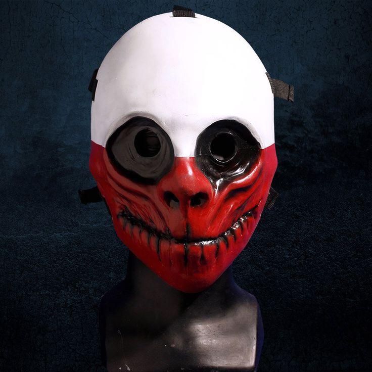Wolf Payday Fiberglass Mask by EnekaCreations on Etsy https://www.etsy.com/listing/271045048/wolf-payday-fiberglass-mask