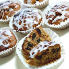 Patagonian Welsh Cupcakes: A Vegetarian cupcake based on the traditional Welsh Black Cake recipe made in 40mins plus cooling