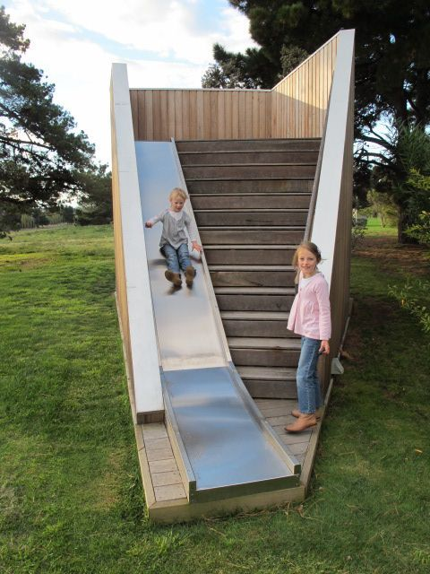 Playful, gathering spaces, potential retail underneath the stairs  Susie's Pavilion | Rory Hyde