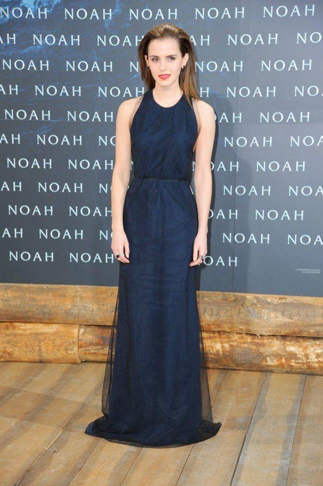 March 2014 Emma Watson - Wes Gordon dress   Emma Watson Looks Simply Stunning in Wes Gordon at Noah Berlin Premiere