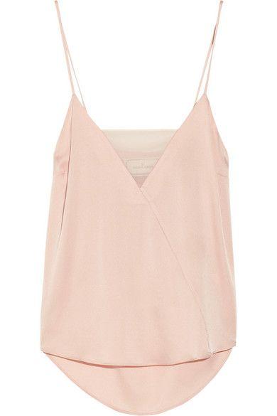 BY MALENE BIRGER Niharika stretch-silk and georgette camisole $275