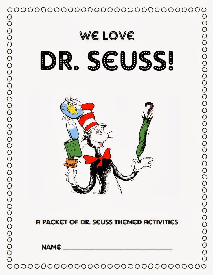 Free Dr. Seuss activities in this fun blog post!!