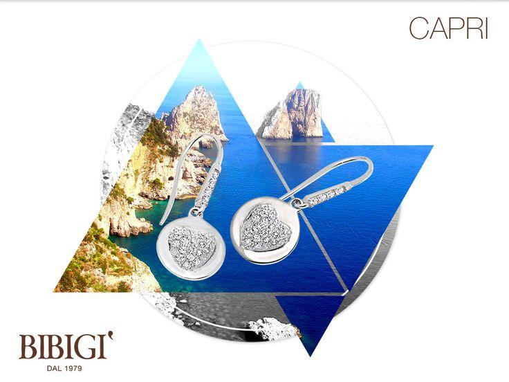 #Bibigi | Collezione #Capri |Orecchini in oro bianco e diamanti.