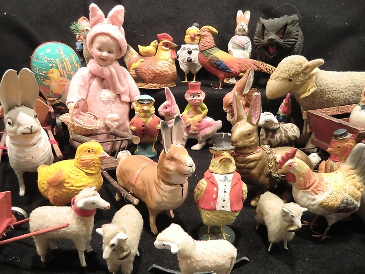 Antique Easter CollectionCelluloid Bunnies, Bunnies Foo