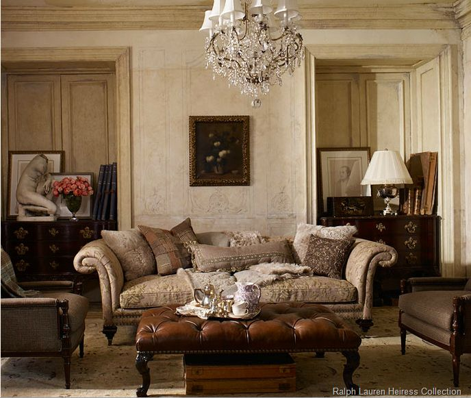 Wonderful Ralph Lauren Home The Heiress Collection Feminine Castle European Old World  Heritage Rich French Formal Style