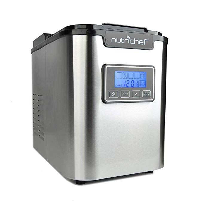 Nutrichef Countertop Ice Maker Portable Ice Cube Machine