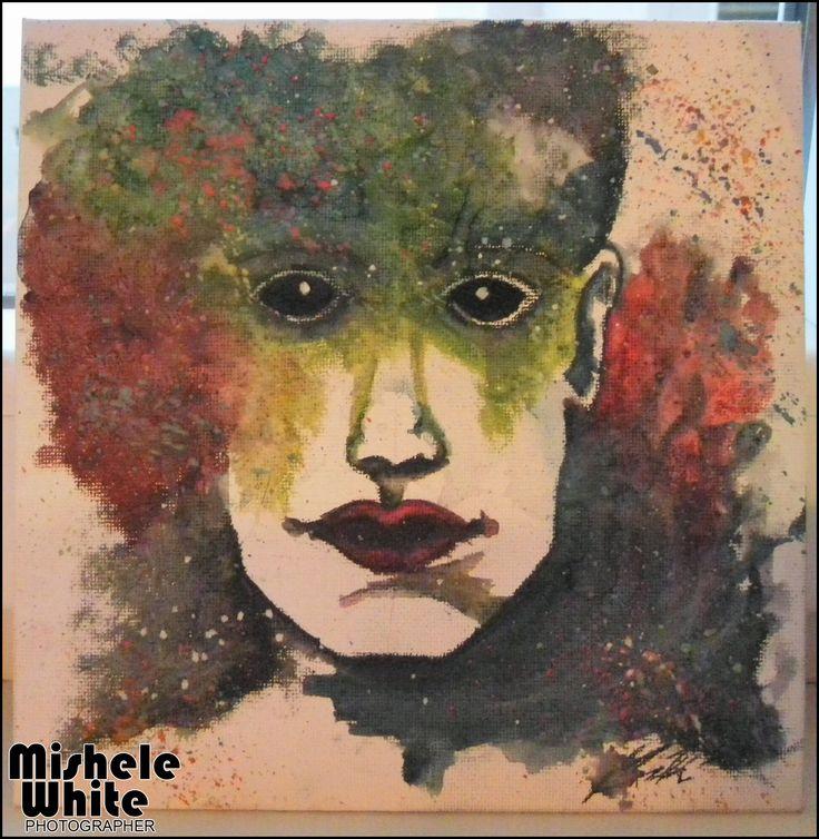 Abstraktní umění- pohled do budoucnosti:) (1. práce na plátně)