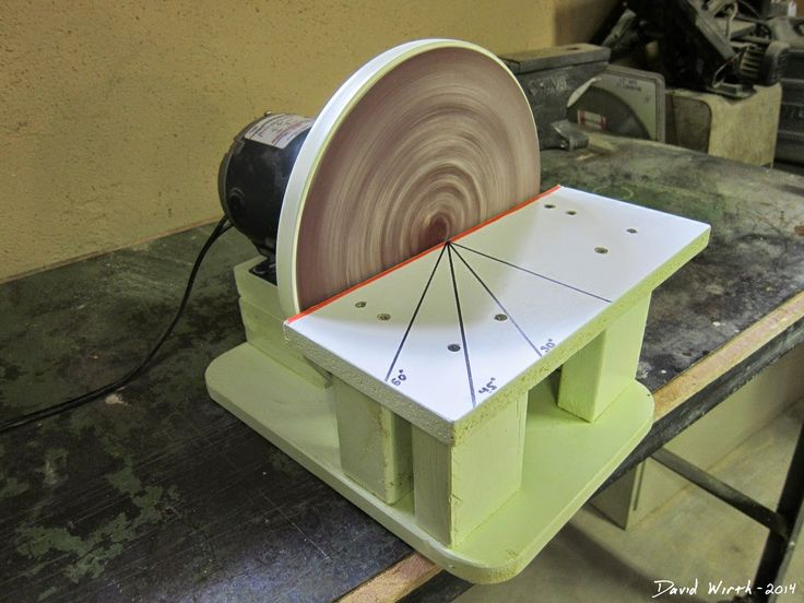 Free Homemade Disc Disk Sander Woodworking Free Tools