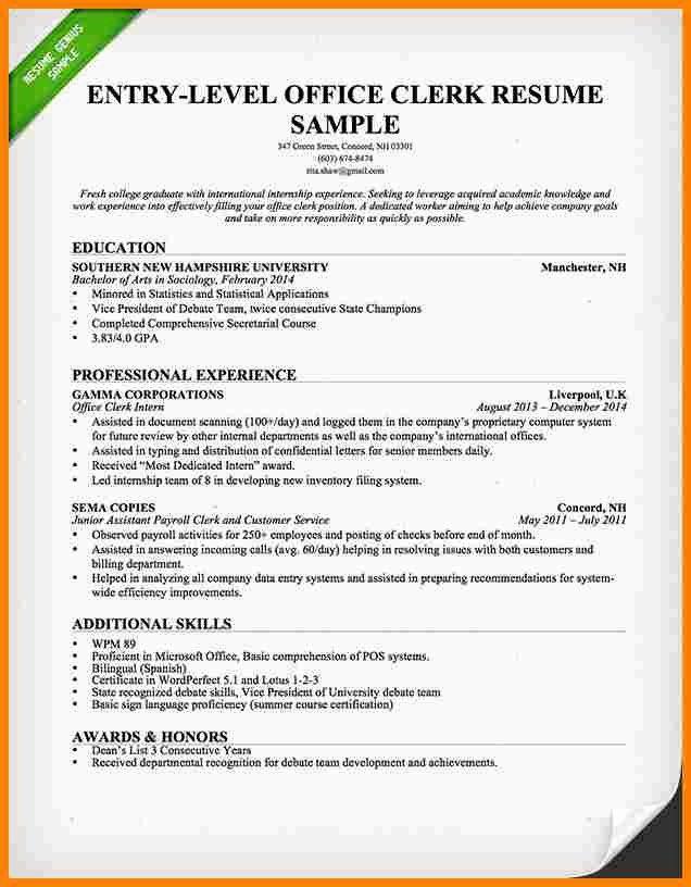 Entry Level Attorney Resume Lovely 9 Resume For Billing Clerk Good Resume Examples Teaching Resume Best Resume Template