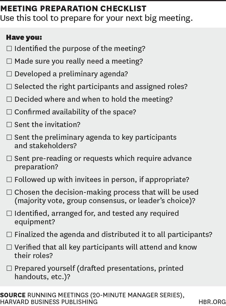 All the Charts, Tables, and Checklists You Need to Conduct Better Meetings
