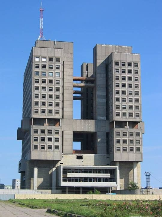 Visions of an Industrial Age // Unfinished building, Kaliningrad, Russia / brutalism #socialist #brutalism #architecture