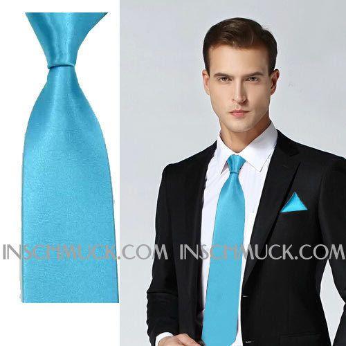 F16-2-Teile-Herren-Krawatte-mit-5-cm-Breite-Einstecktuch-Business-Hochzeit