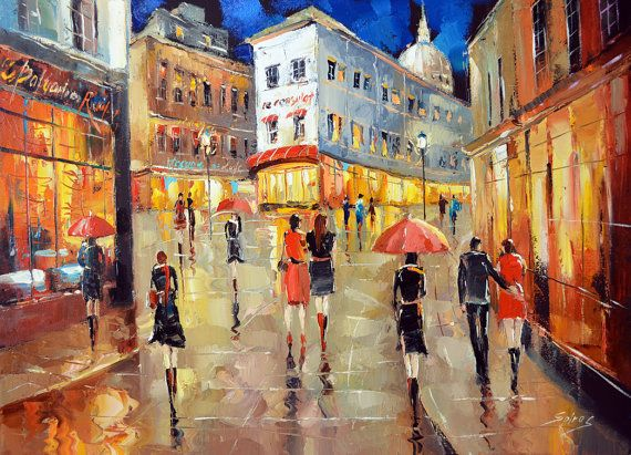 Image result for sidewalks of paris paintings impressionism