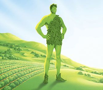 The Jolly Green Giant. Ho ho ho green giant ... I can actually hear his deep, booming voice in my head!
