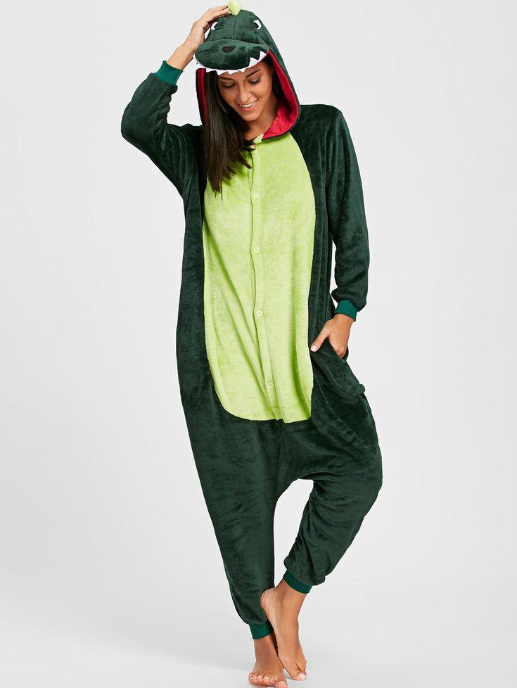 Wholesale Dinosaur Animal Onesie Pajama Xl Green Online. Cheap Pajama Dress And Pajama Shirt on Rosewholesale.com