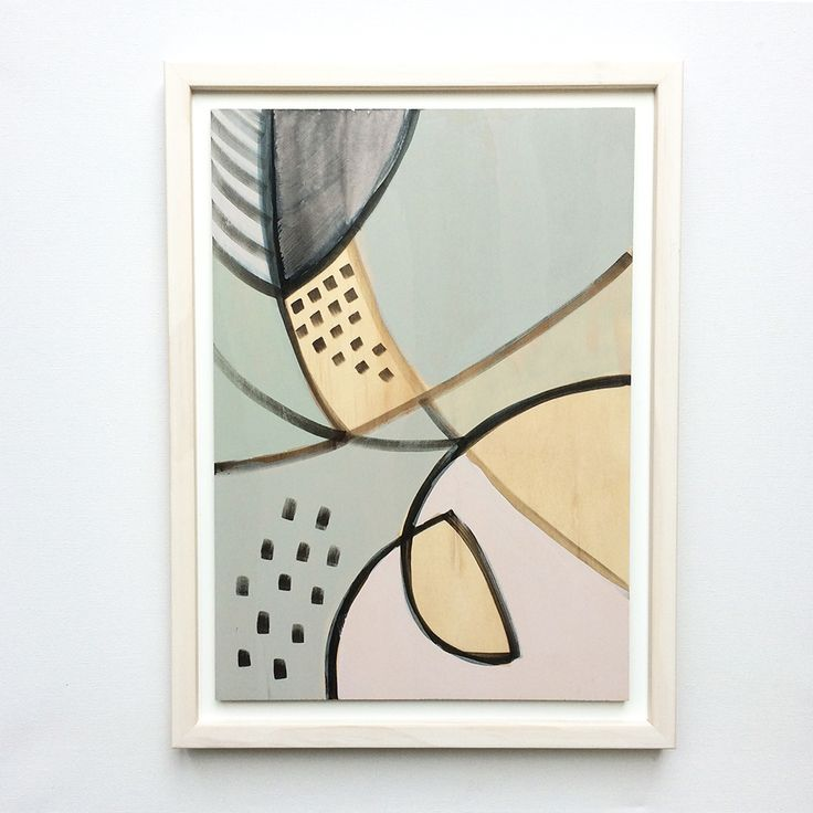 'Pivot' original painting on ply by Georgie Hoby Scutt for Belle Hawk