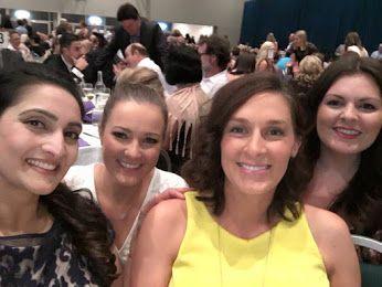 Smiling Team spirit at the business awards