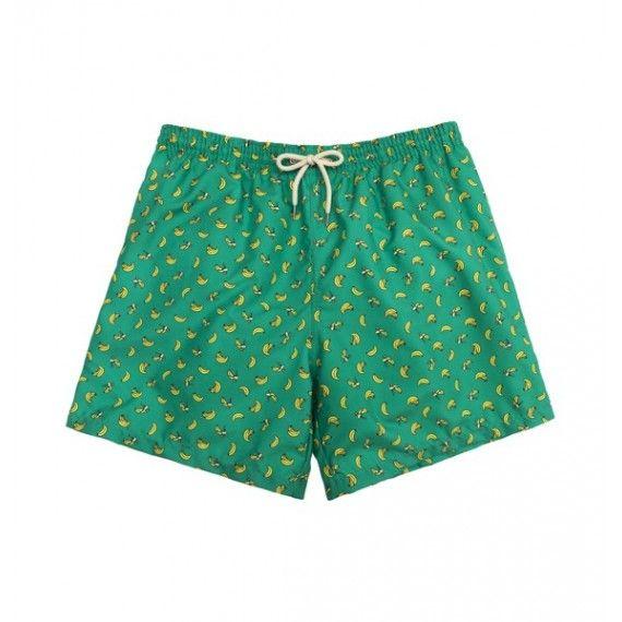 green bananas swim short / bañador verde con plátanos amarillos