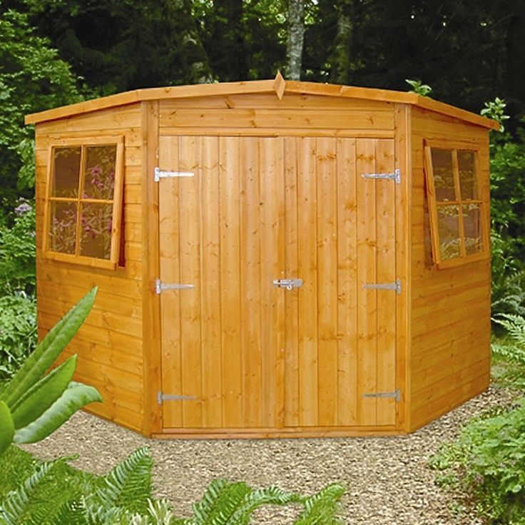 buy fairwood corner garden shed 8 x from our sheds buildings range today from george at asda - Corner Garden Sheds 7x7