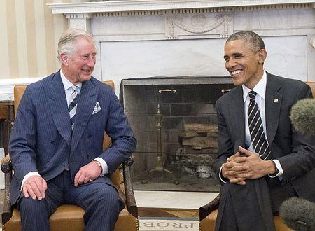 19日、ホワイトハウスで会談するチャールズ英皇太子(左)とオバマ米大統領(EPA=時事) ▼20Mar2015時事通信 「米国民は大統領より英王室」=チャールズ皇太子にオバマ氏 http://www.jiji.com/jc/zc?k=201503/2015032000323