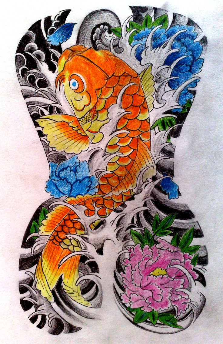 Japanese style tattoo artwork