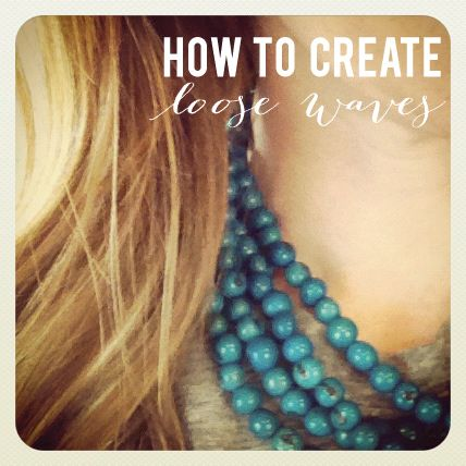 Video hairstyle tutorial: how to create loose waves Jones Design Co.