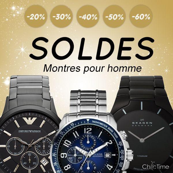 Messieurs, vous cherchez une nouvelle montre mode et tendance ? Retrouvez les marques Armani, Skagen, Seiko, et bien plus encore, parmi nos articles en promotion jusqu'au 11/02/14 > http://www.chic-time.com/91-soldes-montres-homme