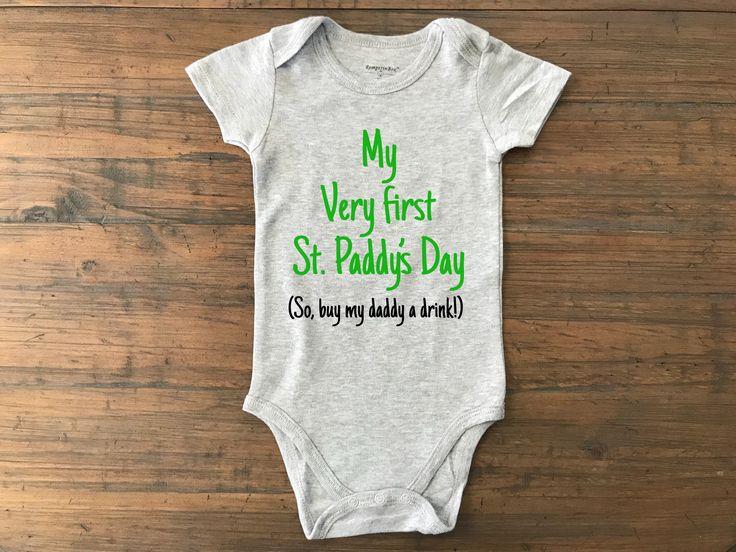 Excited to share the latest addition to my #etsy shop: St. Patricks day onesie • first st paddys day • st paddys day onesie • irish onesie • babys first st paddys day • onesie for dad • baby #clothing #children #bodysuit #firststpaddysday #onesieforbaby #irishdrinkingbaby #giftfordad #dadtobeonesie #irishbabyonesie