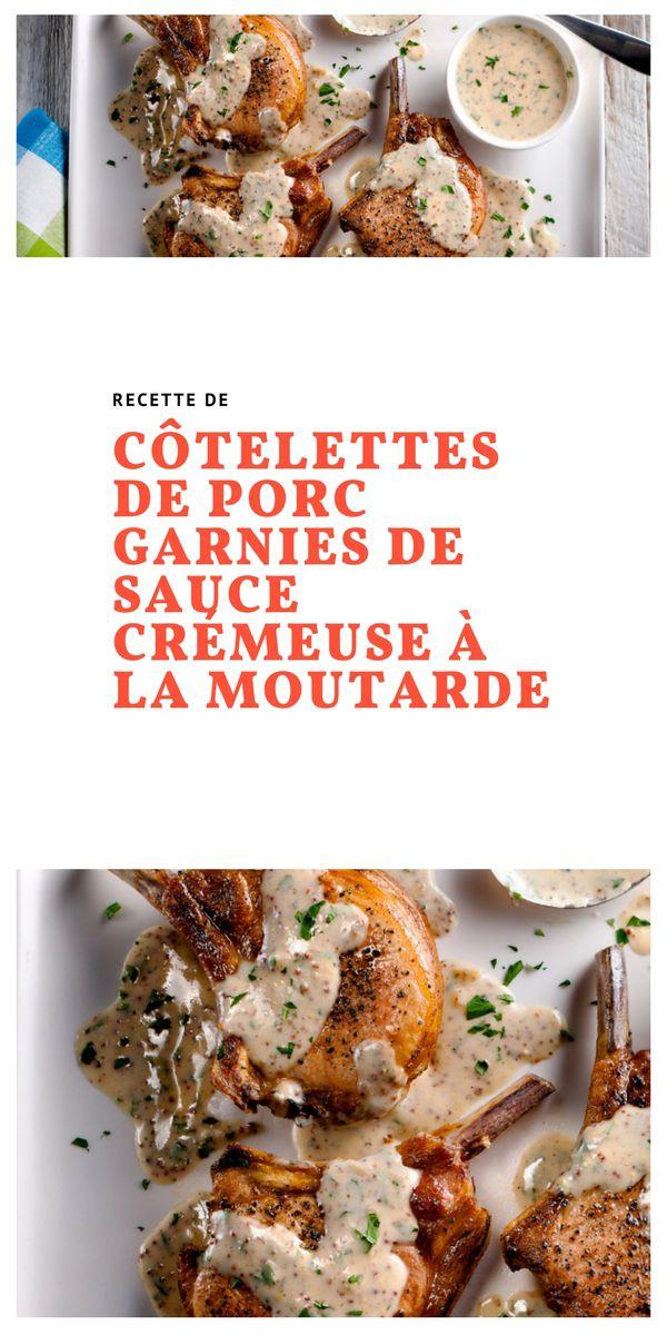 #Côtelettes #porc #saucecrémeuse