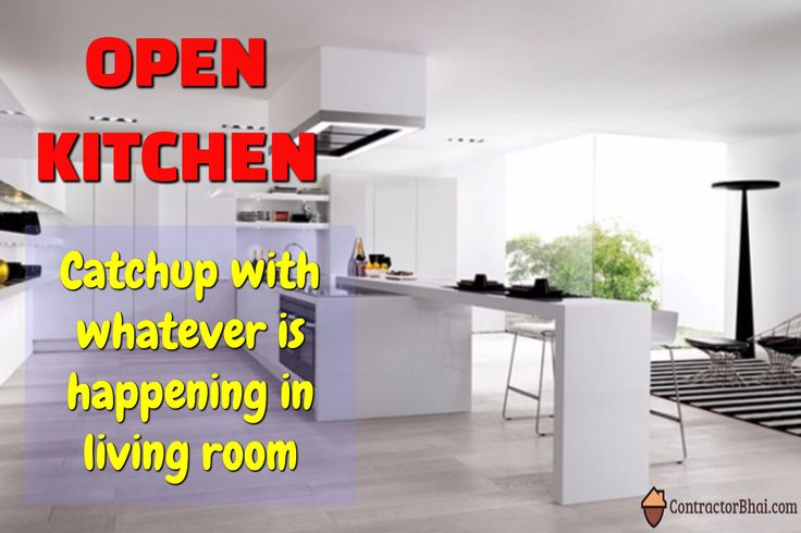 Open Kitchen - Modern Interior Concepts. Know more on Open Kitchen at http://www.contractorbhai.com/2017/04/28/16-open-kitchen-design-for-indian-homes/