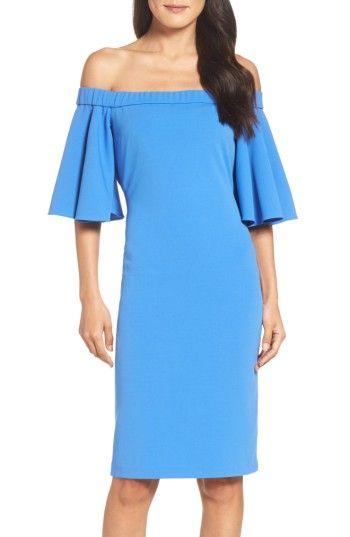 06b8f652 ELIZA J OFF THE SHOULDER SHEATH DRESS. #elizaj #cloth # | Eliza J ...