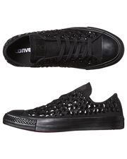CONVERSE+CHUCK+TAYLOR+ALL+STAR+PU+RHINESTONES+SHOE+-+JET+BLACK+on+http://www.surfstitch.com