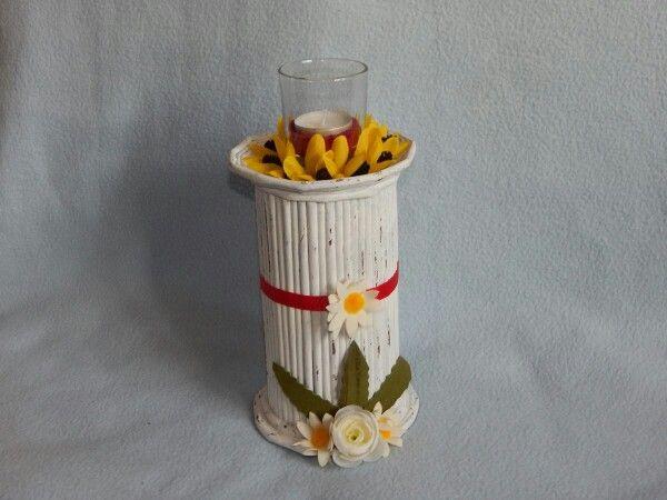 Teelichthalter Papierröllchen