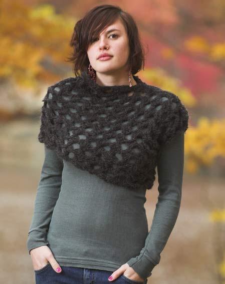 Asymmetrical knit shrug <3 for my friend Lolita
