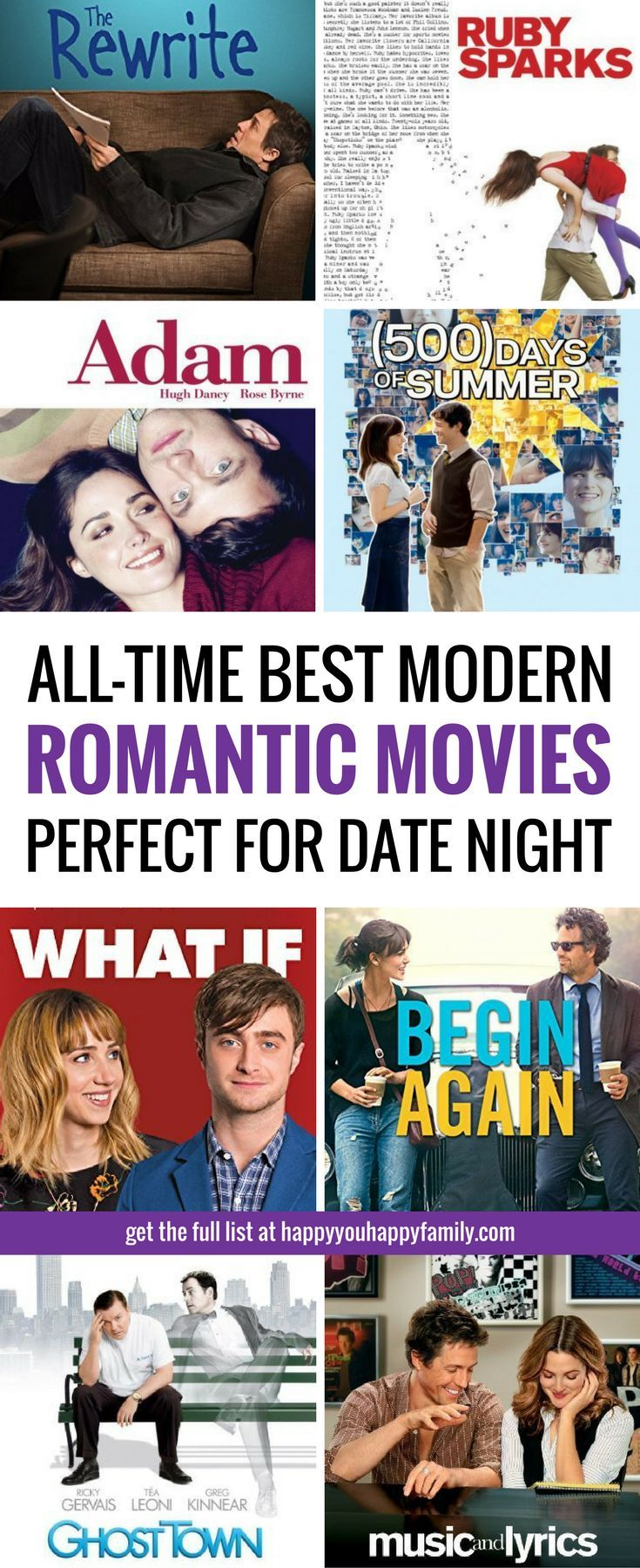 "Looking for the BEST romantic comedies for date night? These ""chick flicks"" are so good, even your husband or boyfriend will like them! These are the best romantic movies to watch on Netflix, Amazon, and iTunes! #romanticcomedy #movies #datenight"
