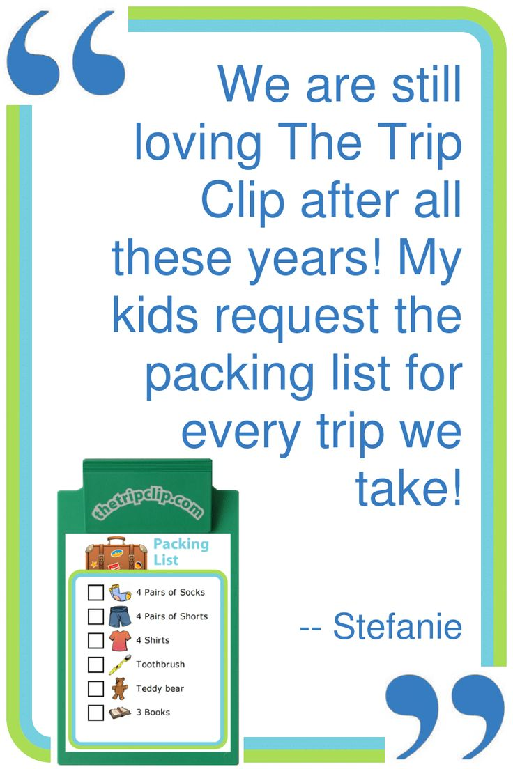 A picture packing list is a powerful thing – it teaches your kids to be responsible for themselves, while giving you time to get your own packing done! #TheTripClip #Testimonials