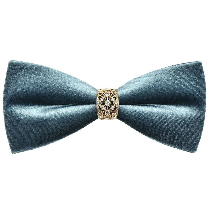 DeerLand Mens Bow Ties Velvet Solid Tuxedo Neckwear Ties Vintage Bowtie Cravat (Grey): Amazon.co.uk: Clothing