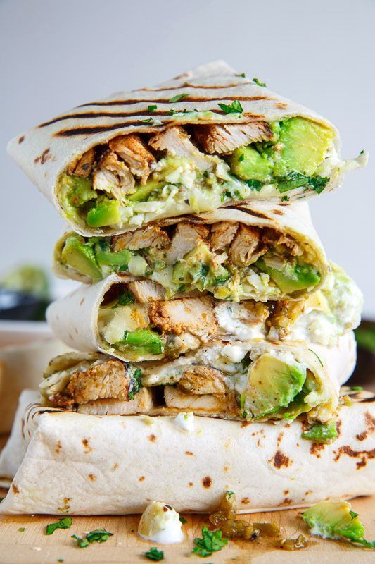 Today I have some tasty chicken and avocado burritos for you! They are so easy to make, you simply wrap the chicken, avocado, cheese, salsa verde, sour cream and cilantro up in a tortilla, grill ...