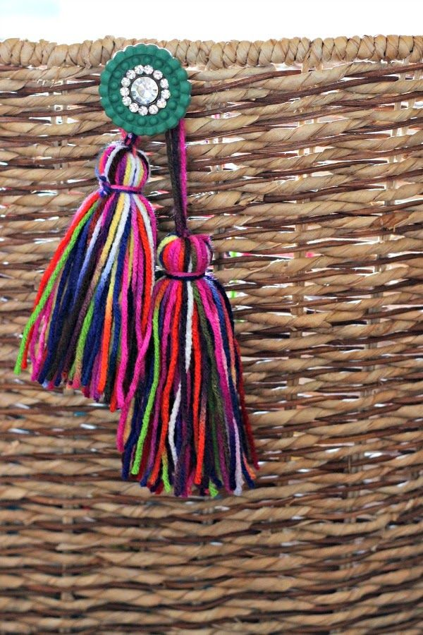 How to make a tassel || DIY tassel tutorial || cabinet knob on basket with tassel