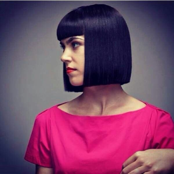 Square Bob One Length Haircuts Pinterest Bobs And