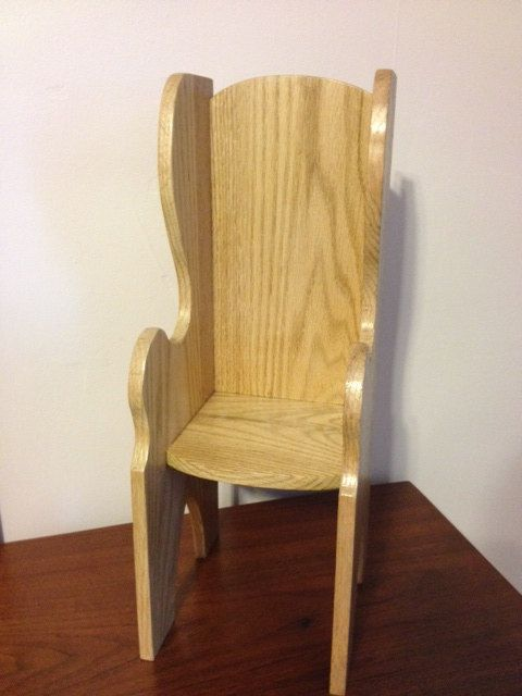 Oak Doll Chair  Fits American Girl Doll or 18 inch by MainStCrafts, $25.00