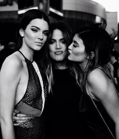 Models Kendall and Kylie Jenner with their celebrity sister Khloé Kardashian.... - Kylie Jenner Style