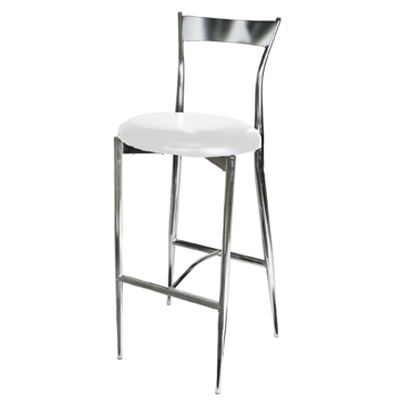 L W White Chrome Bar Stool Bar Stools Pinterest
