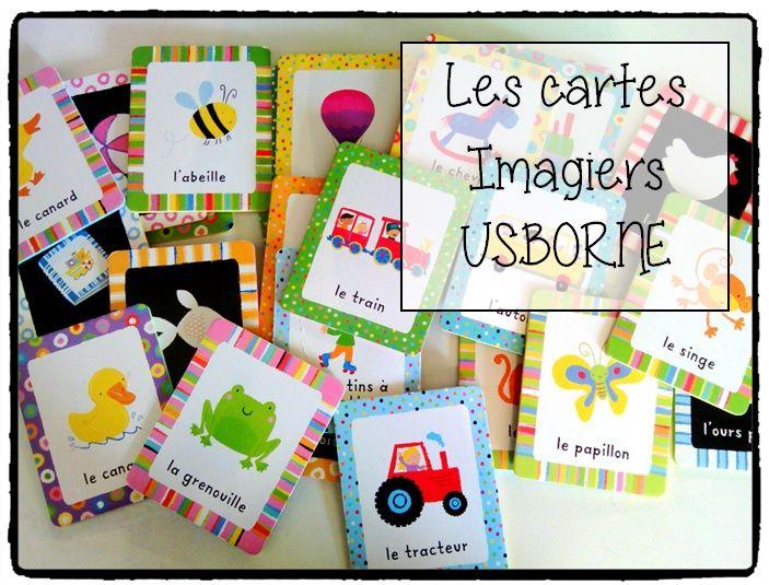 cartes imagiers usborne, jeux enfants