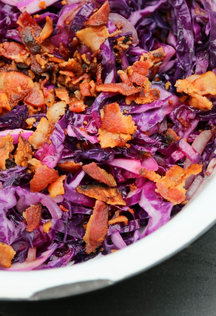 The Hungry Hounds— Sautéed Red Cabbage with Bacon
